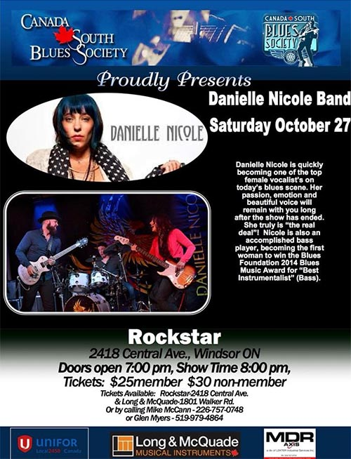Danielle Nicole Canada South Blues Society Poster