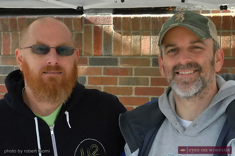 Downtown Windsor Farmers Market manager Steve Green (1eft) and assistant manager Robert Ross