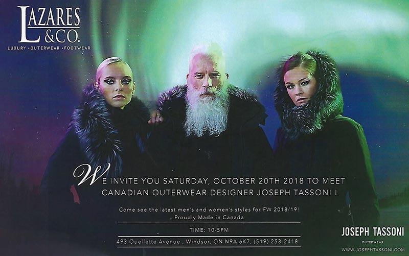Lazares Hosts Outerwear Designer Joseph Tassoni & Modesto Art Run For Rocky Fundraiser