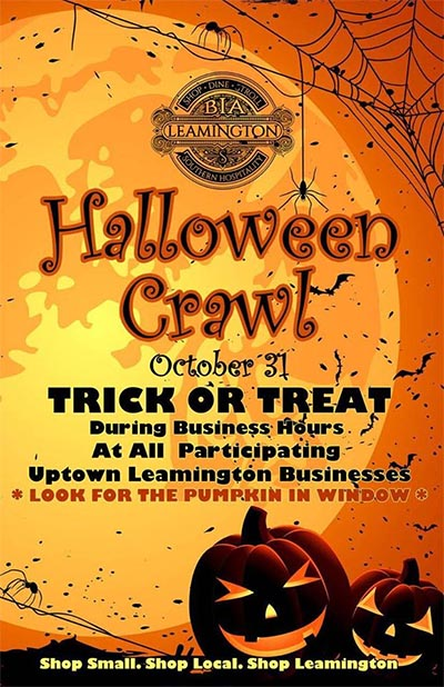 Uptown Leamington BIA Halloween Crawl Poster