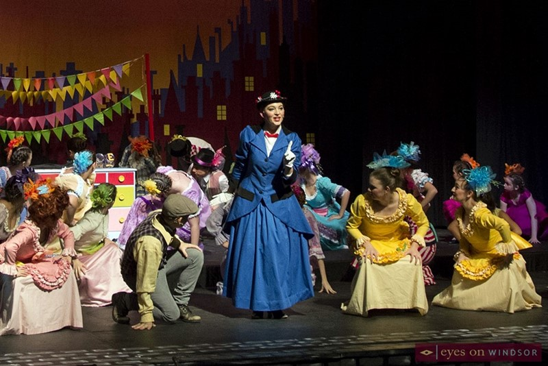 Emily LeClaire (centre) cast as Mary Poppins