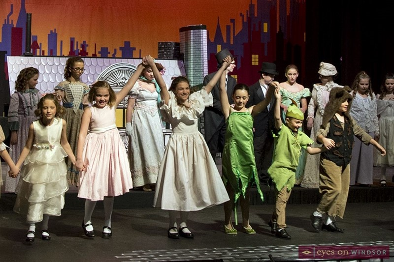 Cast members of Migration Hall's production of Mary Poppins Jr.