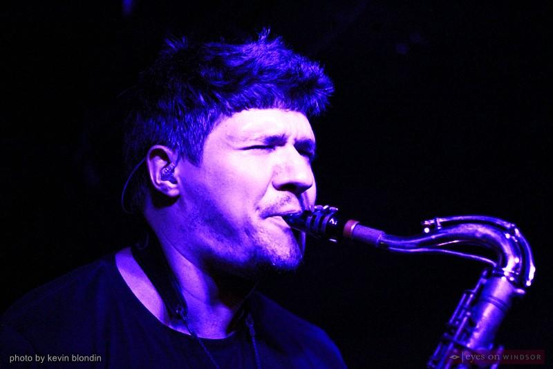 Moon Hooch band member Mike Wilbur