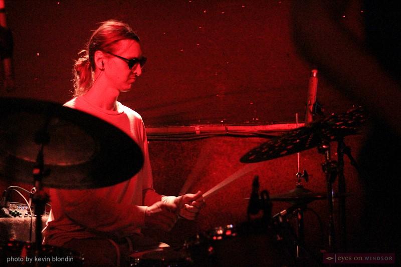 Moon Hooch drummer, James Muschler.