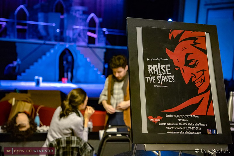 Raise The Stakes musical horror comedy poster shown inside the Olde Walkerville Theatre