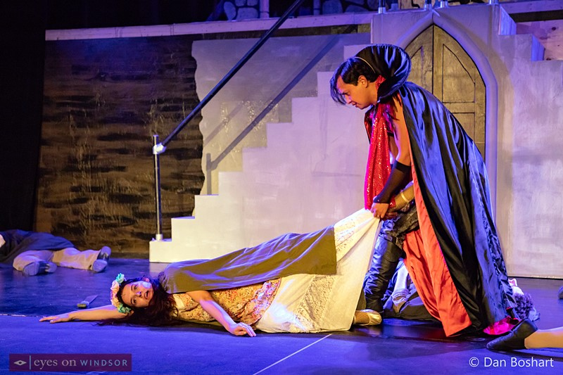 Lucy played by Emma Heidenheim (left), and Dracula played by Pierre Angelo Bayuga, during the Raise The Stakes dress rehearsal