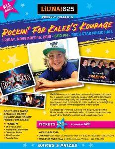 Rockin' For Kaleb's Kourage Poster
