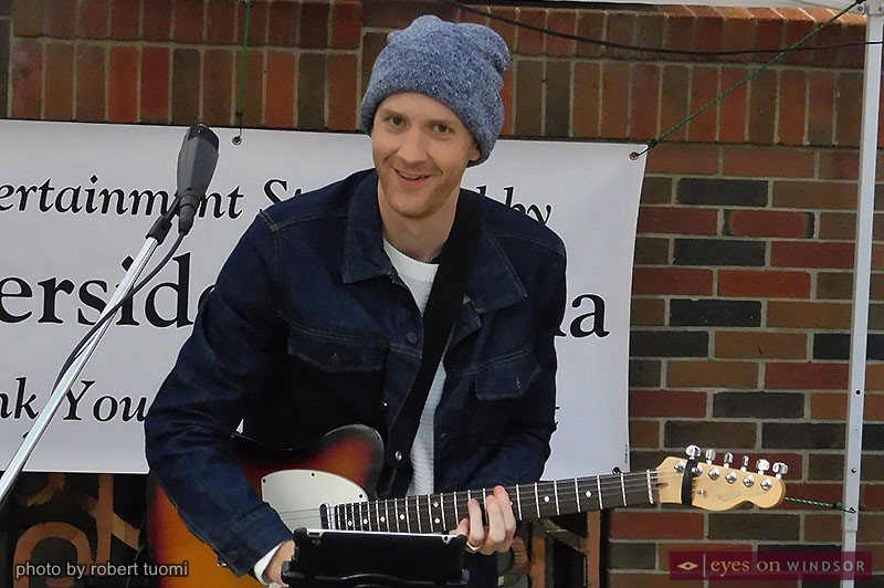Soul Brother Mike performing at the Downtown Windsor Farmers Market