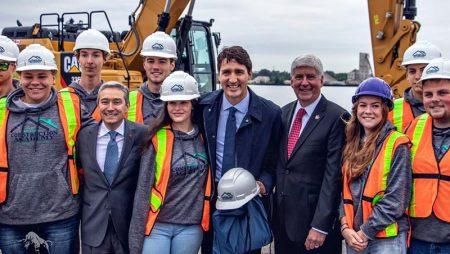 Trudeau Celebrates Gordie Howe International Bridge Construction Start