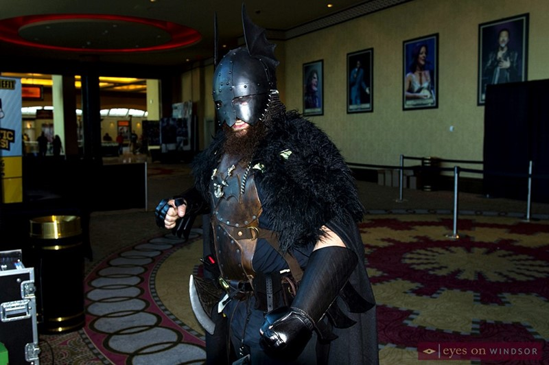 Michael Reeve Cosplays as Batzerker during Windsor Comicon
