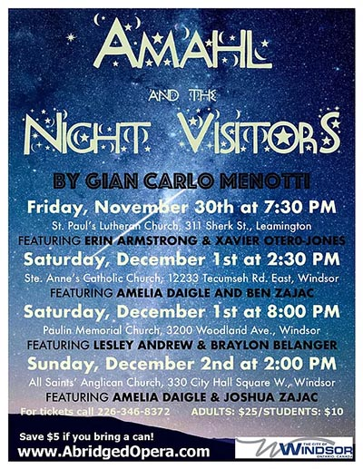 Abridged Opera Amahl & The Night Visitors Poster