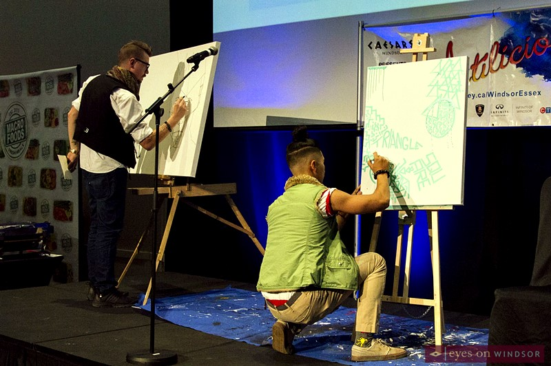 Artists, Asaph Maurer and Eugenio Mendoza Live Art Battle