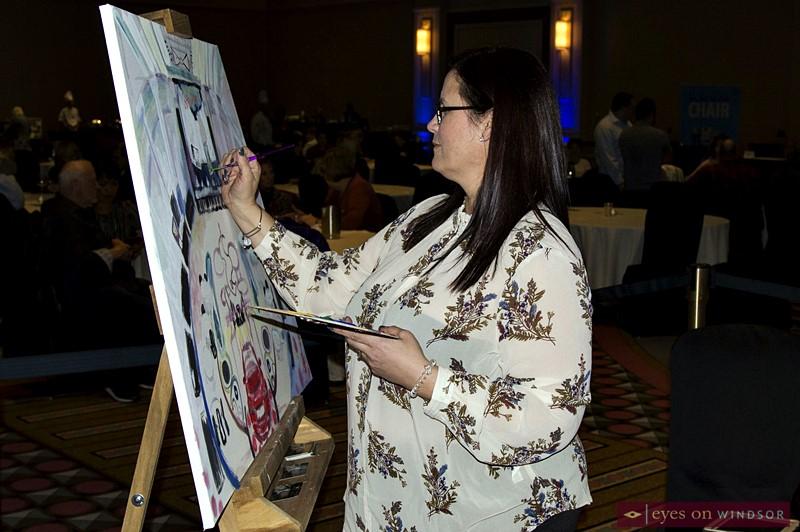 Artist Tina Greco at Artilicious Windsor