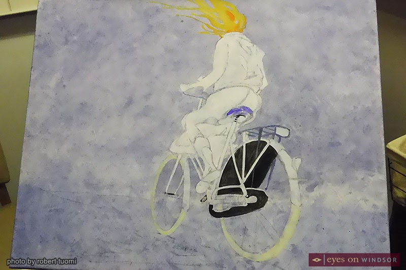 Artist Owen Swain's current project named Bike Flight