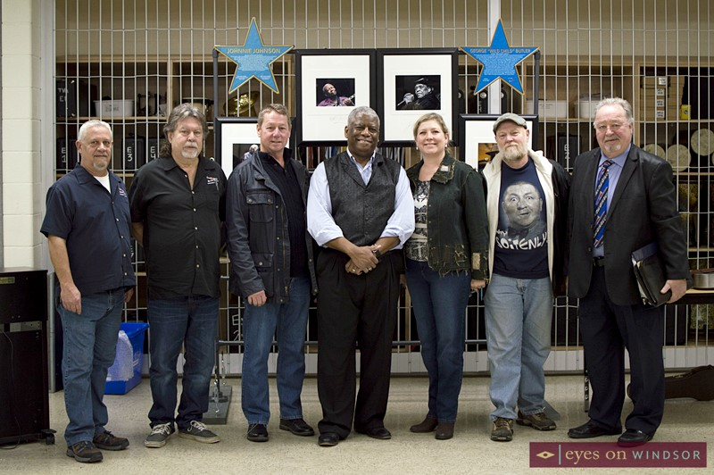 Members of the Canada South Blues Society with Reverend Robert B. Jones, Sr.