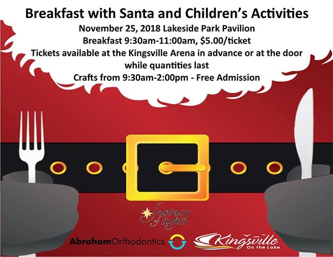 Breakfast With Santa in Kingsville Poster