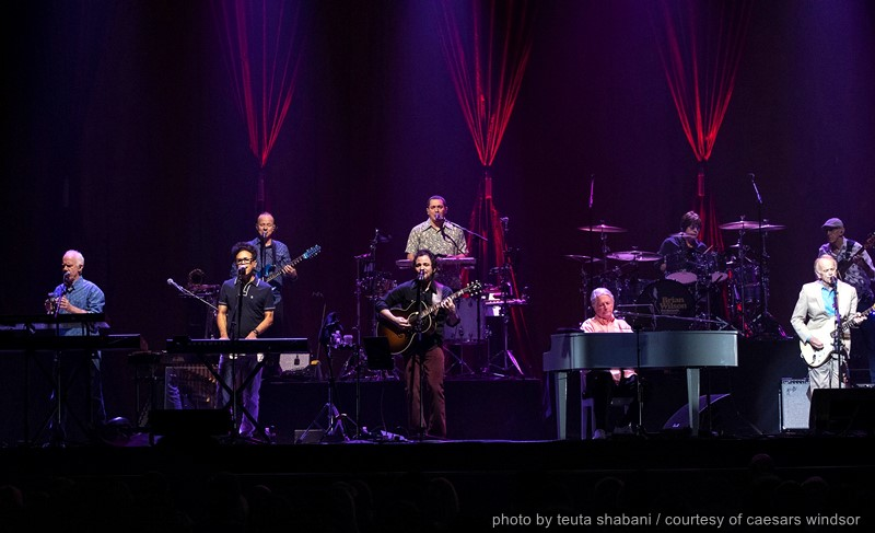 Brian Wilson performing with his band