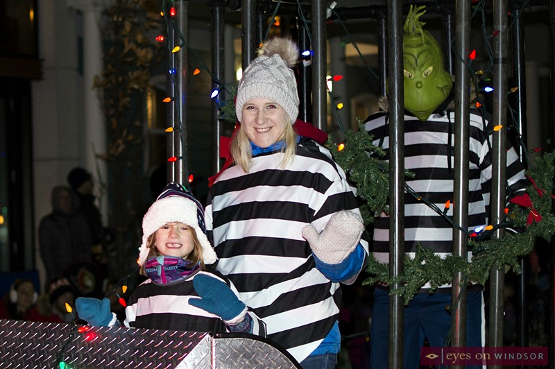 The Grinch and Crime Stoppers in the Kingsville Santa Claus Parade