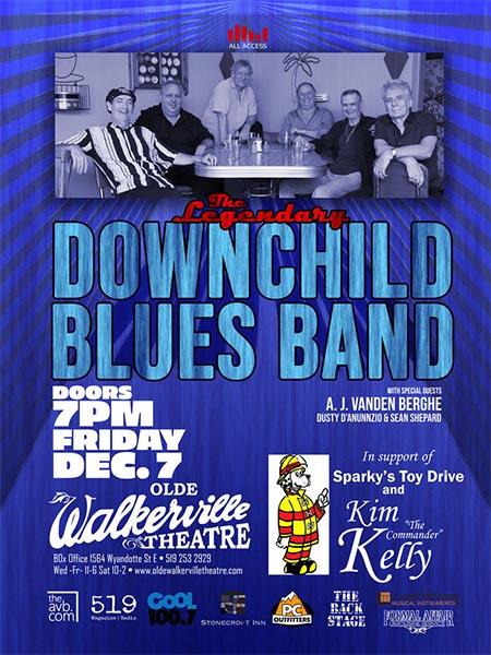 Legendary Downchild Blues Band Windsor / Olde Walkerville Theatre Poster
