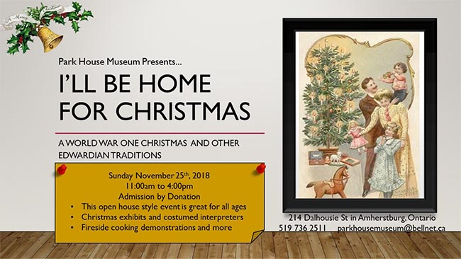 I'll Be Home For Christmas a WWI Christmas Poster