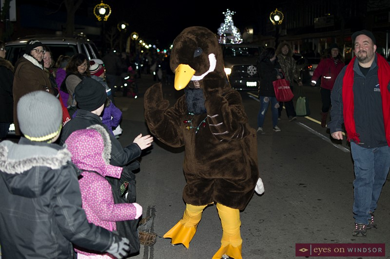 A Goose Character from Jack Miner Bird Sanctuary in the Kingsville Santa Claus Parade