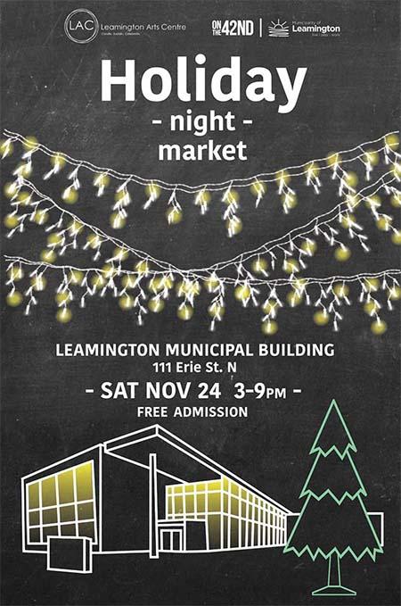 Leamington Holiday Night Market Poster
