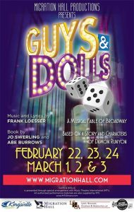 Migration Hall Productions Guys and Dolls Poster