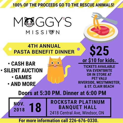 Moggy's Mission Annual Pasta Dinner / PAW-sta Dinner Poster