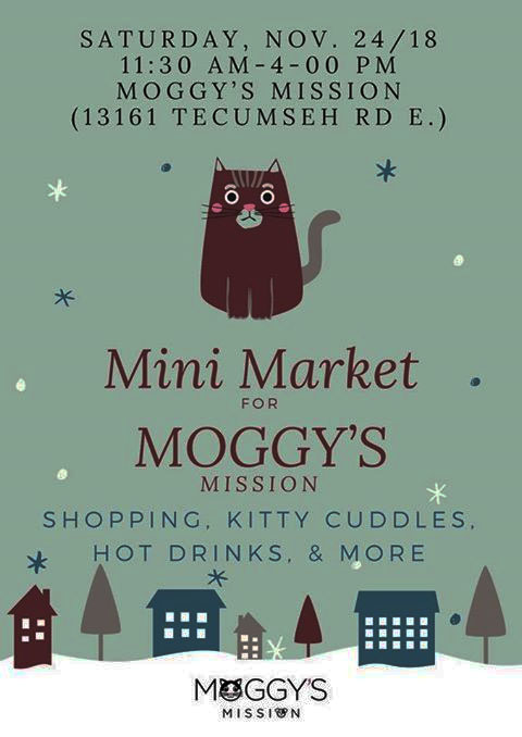 Mini Market For Moggy's Mission, Holiday Market Poster