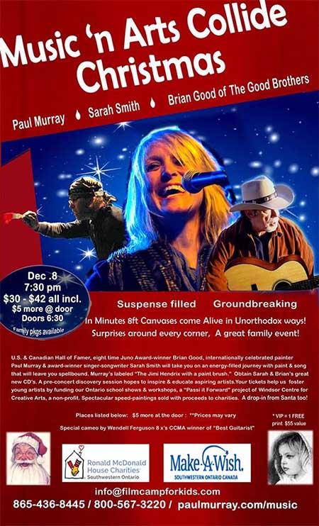 Music 'n Arts Collide Christmas Poster