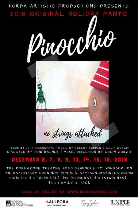 Pinocchio Poster Kordazone Theatre