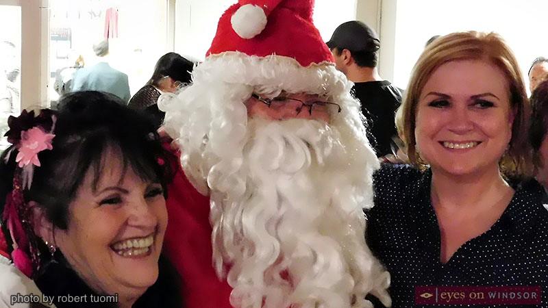 Santa Claus visits Toy 4 Tots fundraiser.