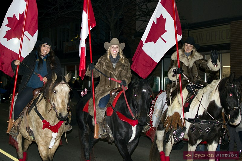 Sarah Parks Horsemanship in the Kingsville Santa Claus Parade