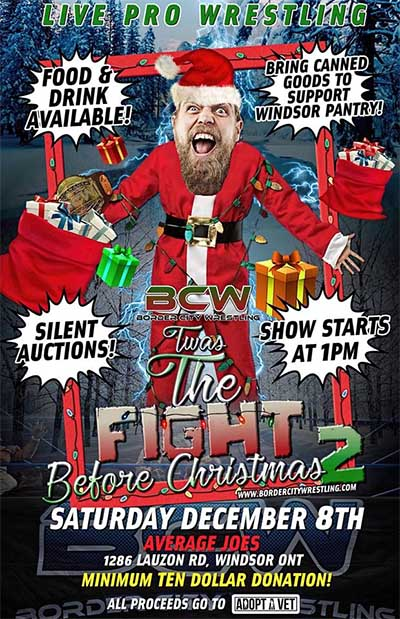 Border City Wrestling Twas The Fight Before Christmas Poster