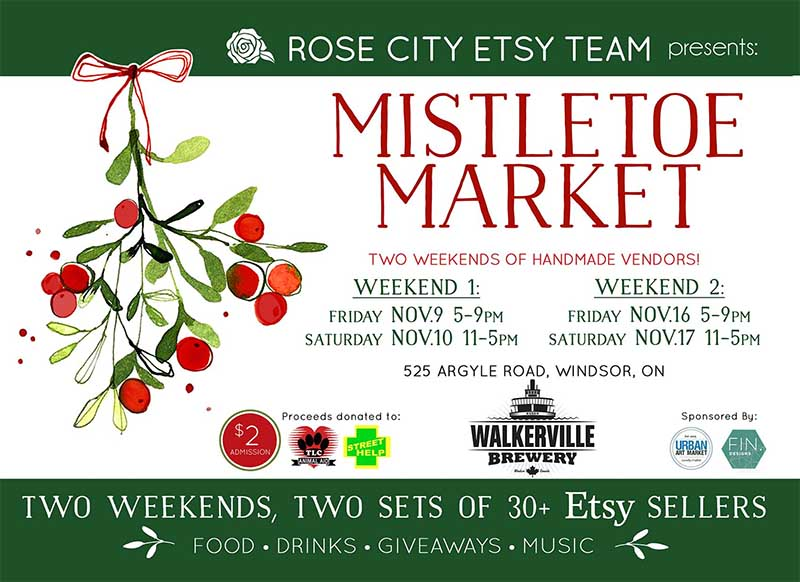 Walkerville Brewery Etsy Holliday Ets Mistletoe Market