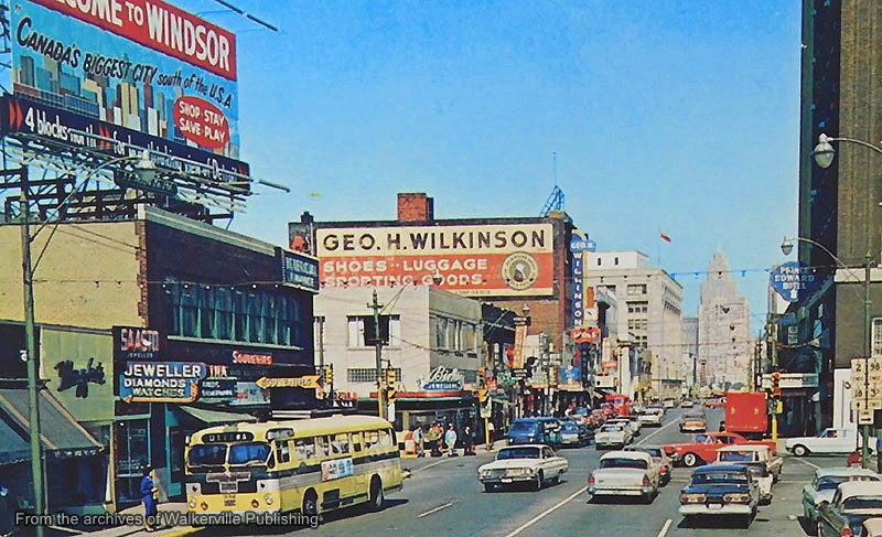 Photograph of Downtown Windsor in 1952