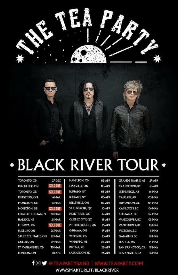 Tea Party Black River Tour Poster