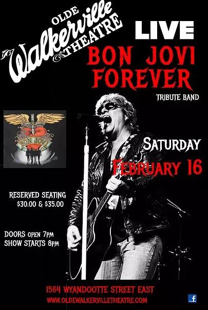 Bon Jovi Forever Tribute Concert Windsor Poster