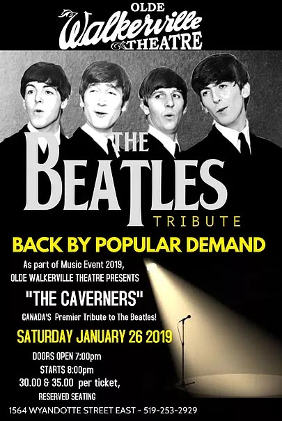Caverners Beatles Tribute Concert Windsor Poster