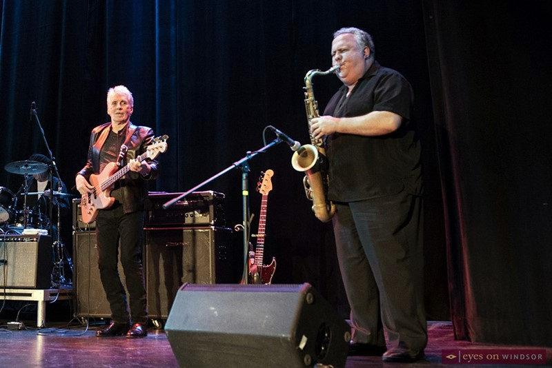 Downchild band bassist Gary Kendall and sax player Pat Carey