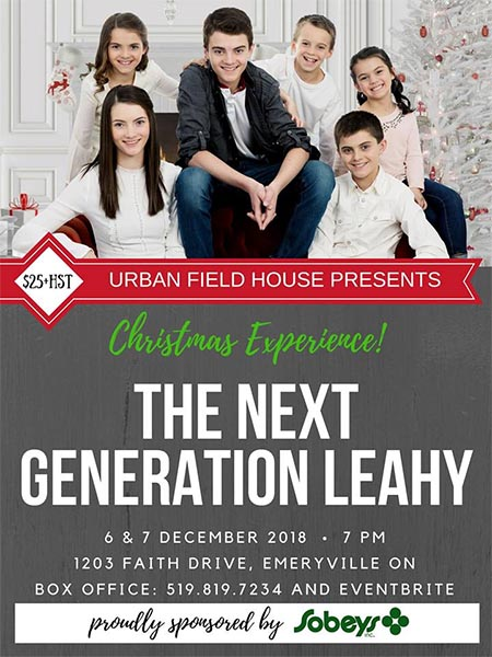 "Next Generation Leahy ""Christmas Experience"" Concert Poster"