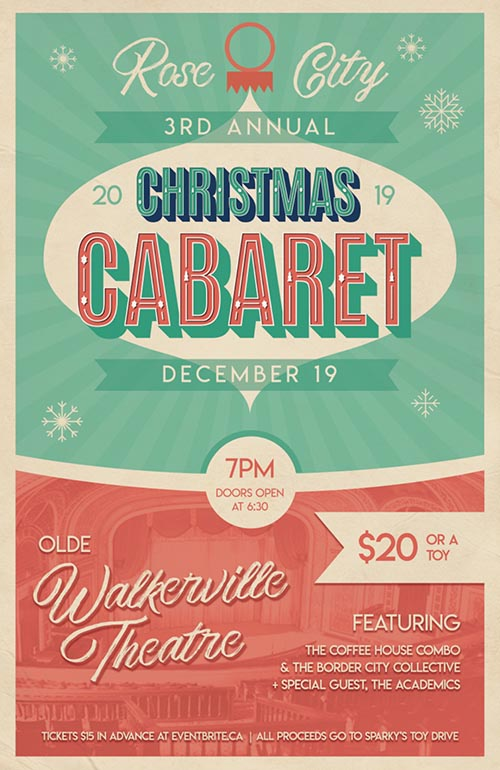 Rose City Christmas Cabaret Poster