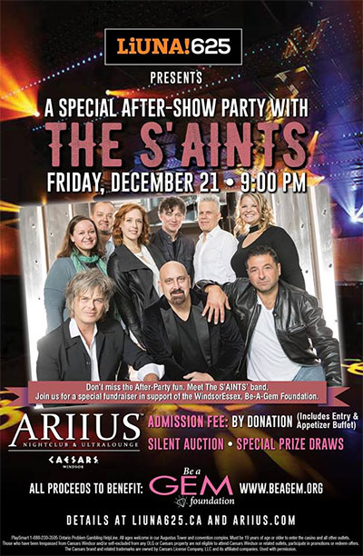 The S'Aints Sleighing Hunger Concert After Party Poster