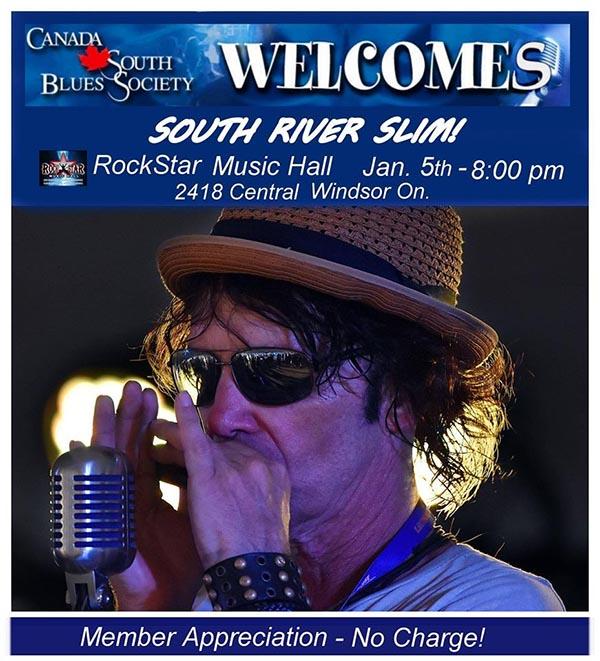 South River Slim Canada South Blues Society Windsor Appreciation Show