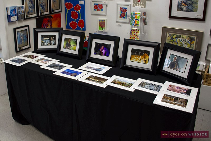 Photo prints by Todd Shearon on display.