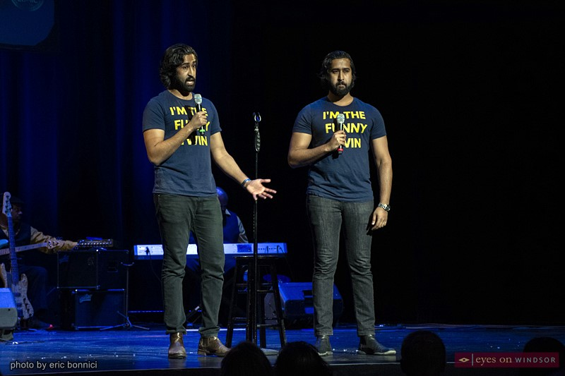 The Twindians during Windsor Comedy Festival's Next Best Comic Finals