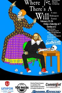 Where There's A Will Mini-Shakespeare Festival Poster