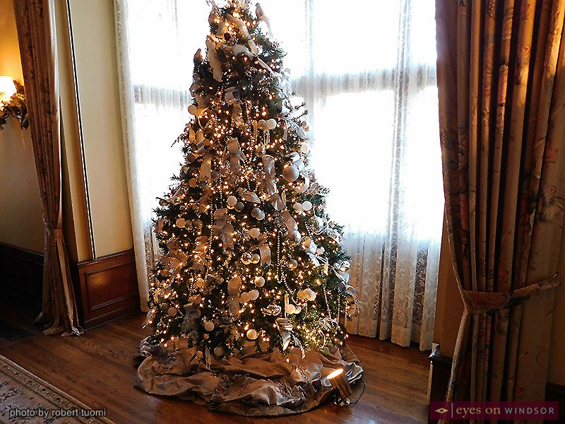 Christmas Tree on display inside Willistead Manor's Great Hall.
