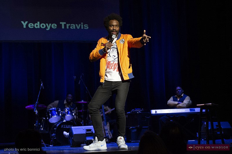 Comedian Yedoye Travis performing during Windsor Comedy Festival