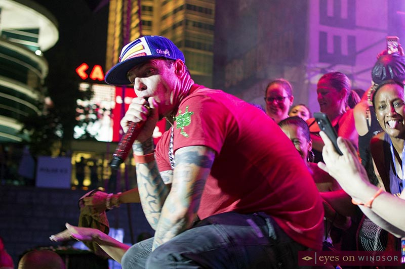 Vanilla Ice performing during Bluesfest Windsor's 90s Throwback Concert
